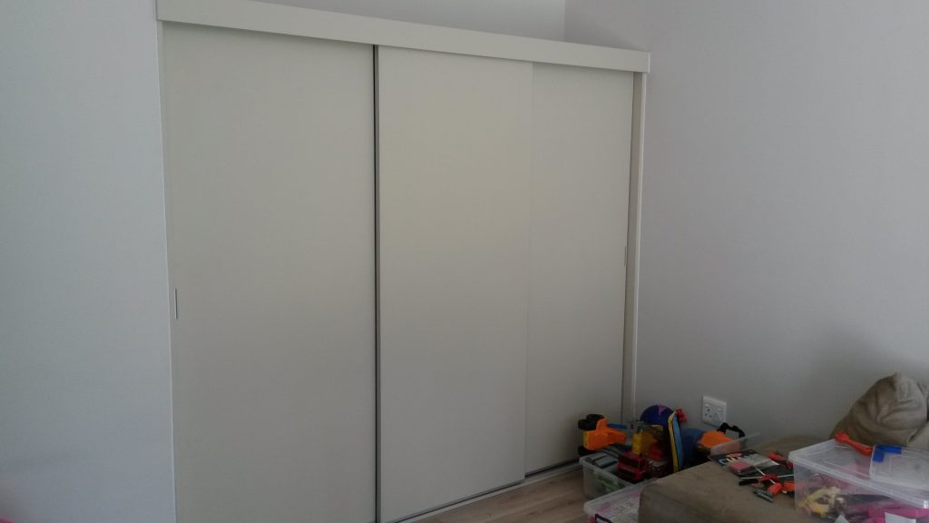 Sliding doors in Cappuccino wrap