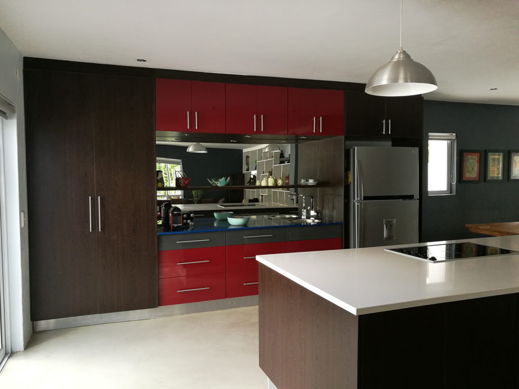 HiGloss spray and African Wenge Melamine doors